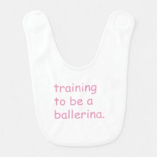 Training to be a ballerina bib