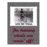 Training Wheels Funny Retro Graduation Postcards