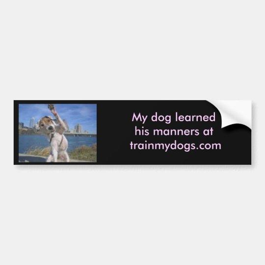 Trainmydogs.com Bumper Sticker