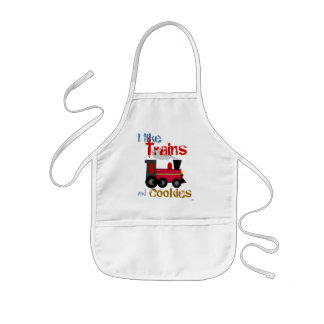 Trains and Cookies Baking Kids Apron
