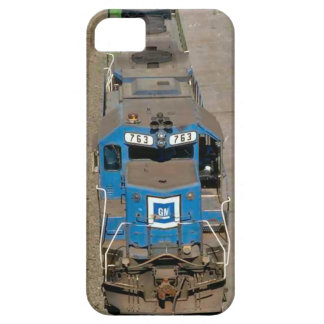 Trains and tracks - 763 Blue train iPhone 5 Cover