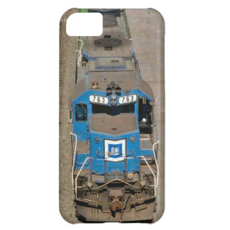 Trains and tracks - 763 Blue train iPhone 5C Case