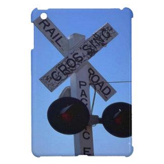 Trains and tracks - railroad crossing cover for the iPad mini
