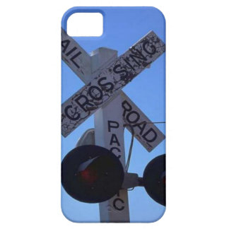 Trains and tracks - railroad crossing iPhone 5 covers