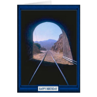 Trains and tracks -Tunnel Vision Card