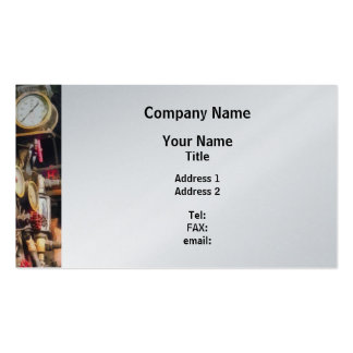 Trains - Inside Cab of Steam Locomotive Business Card