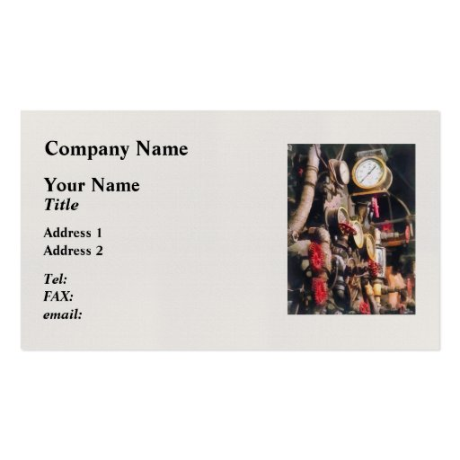 Trains - Inside Cab of Steam Locomotive Business Card