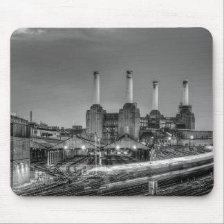Trains pass Battersea Power Station, London Mouse Mat