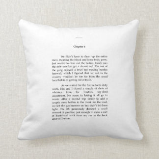 TRAITORS EXCERPT throw pillow