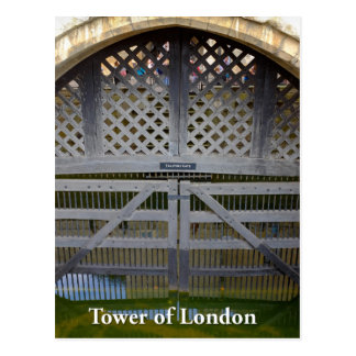 Traitors' Gate, Tower of London, England UK Postcard