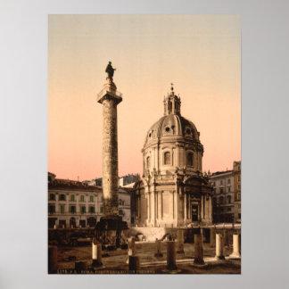 Trajan s Column Rome Lazio Italy Poster