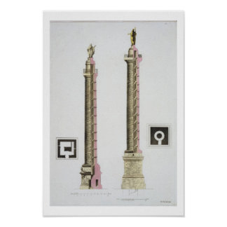Trajan's column, Rome, from 'Le Costume Ancien et Poster