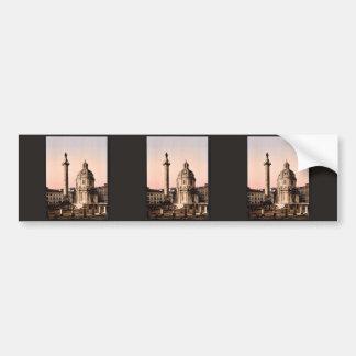 Trajan's Pillar, Rome, Italy classic Photochrom Bumper Sticker
