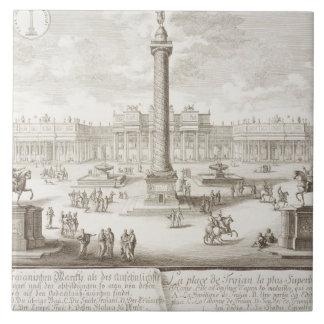 Trajan's Square Rome, from 'Entwurf einer historis Tile