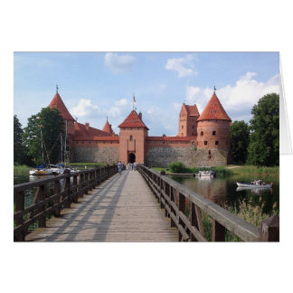 Trakai Island Castle - LITHUANIA --- Card