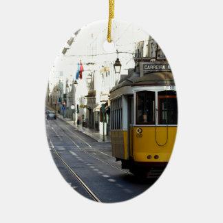 Tram 28, Lisbon, Portugal Christmas Ornament
