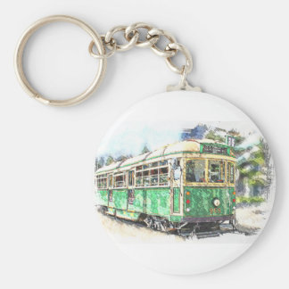 Tram Basic Round Button Key Ring