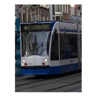 Tram in Amsterdam Postcard