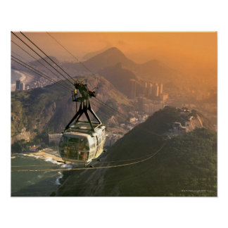Tram in Rio de Janeiro, Brazil Poster