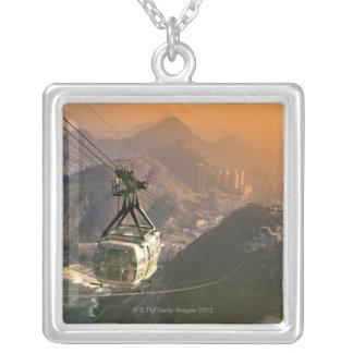 Tram in Rio de Janeiro, Brazil Silver Plated Necklace