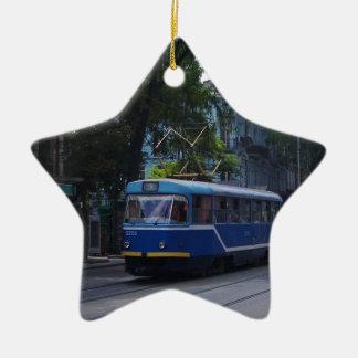 Tram In The Ukraine Ceramic Star Decoration