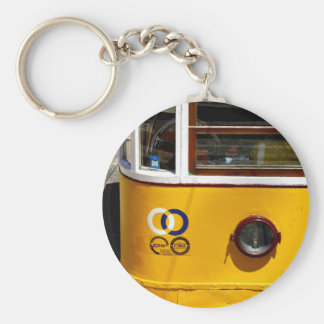 Tram, Lisbon, Portugal Basic Round Button Key Ring