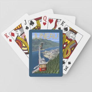 Tram over Juneau, Alaska Vintage Travel Poster Poker Deck