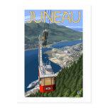 Tram over Juneau, Alaska Vintage Travel Poster Postcard