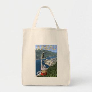 Tram over Juneau, Alaska Vintage Travel Poster Tote Bag
