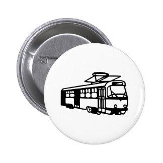 Tram - Subway 6 Cm Round Badge