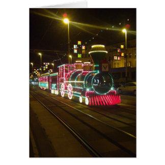 Tram Train - Blackpool Illuminations Card
