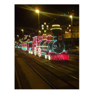 Tram Train - Blackpool Illuminations Postcard