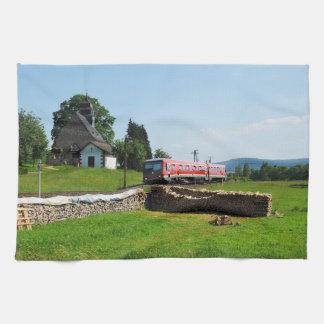 Tramcar in Simtshausen Tea Towel