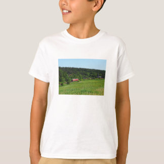 Tramcar with meadow field T-Shirt