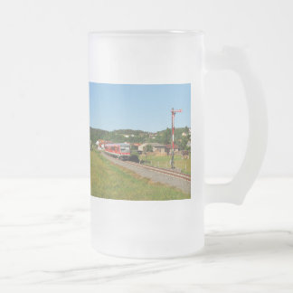 Tramcar with Muenchhausen Frosted Glass Beer Mug