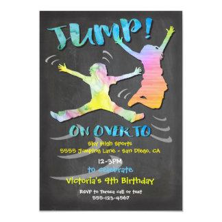 Trampoline Birthday Party for boy or girl 13 Cm X 18 Cm Invitation Card