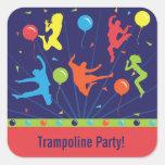 Trampoline Birthday Party Stickers Boys & Girls