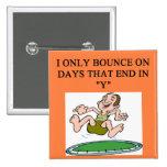 trampoline bounce pinback button