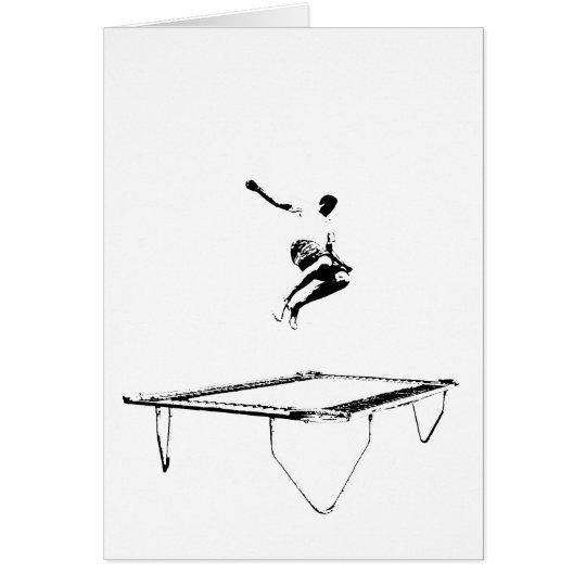 Trampoline Folding Card