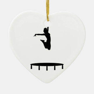 Trampoline girl christmas ornament