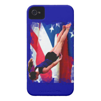 Trampoline gymnast Blackberry Bold barely there Case-Mate iPhone 4 Case