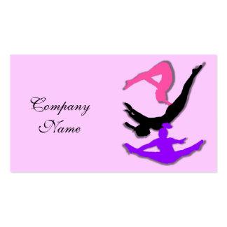 Trampoline gymnast business cards