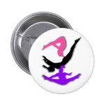 Trampoline gymnast pinback button