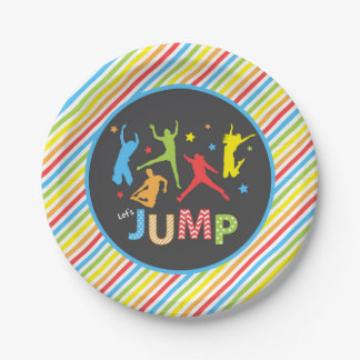 trampoline paper plates / jump paper plates