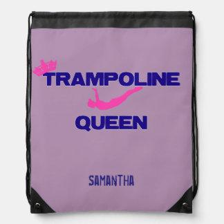 Trampoline Queen cinch sack backpack
