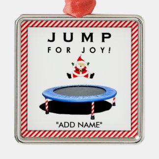 Trampolining Santa Christmas Ornament