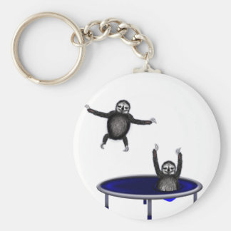 trampolining sloths key ring