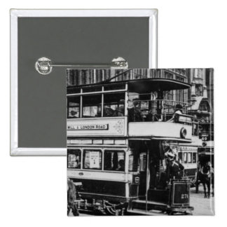 Trams in Manchester, c.1900 15 Cm Square Badge