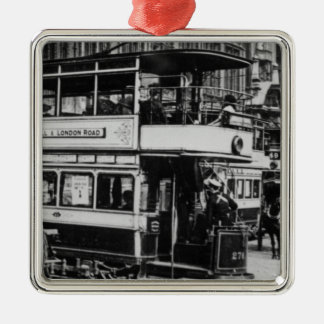 Trams in Manchester, c.1900 Christmas Ornament