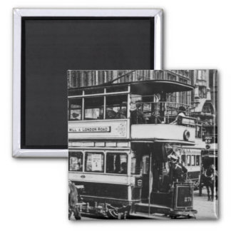 Trams in Manchester, c.1900 Magnet